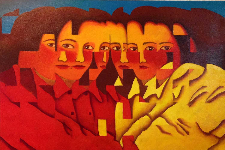 2004 Fragmentação Duas Figuras óleo s/tela 80x120cm