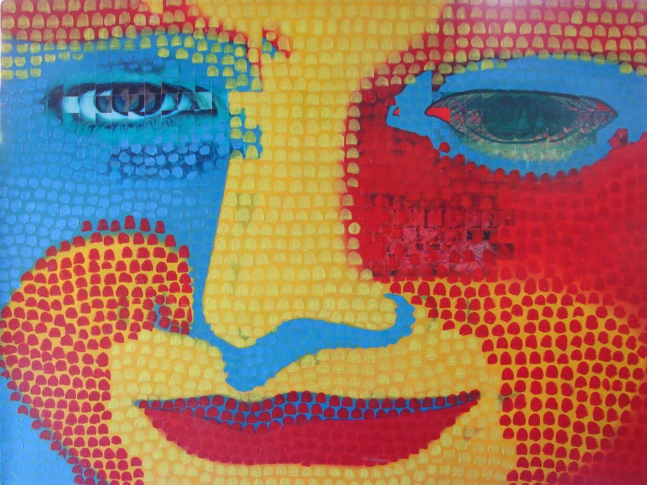 2006 Releitura Monalisa 5 60x80cm mista tela