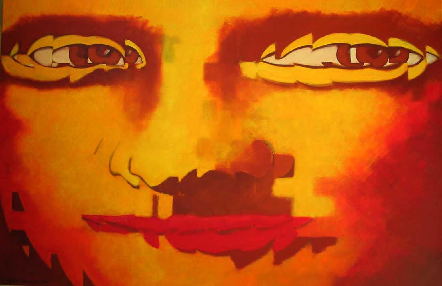 2008 Releitura Monalisa 1 óleo 80x120