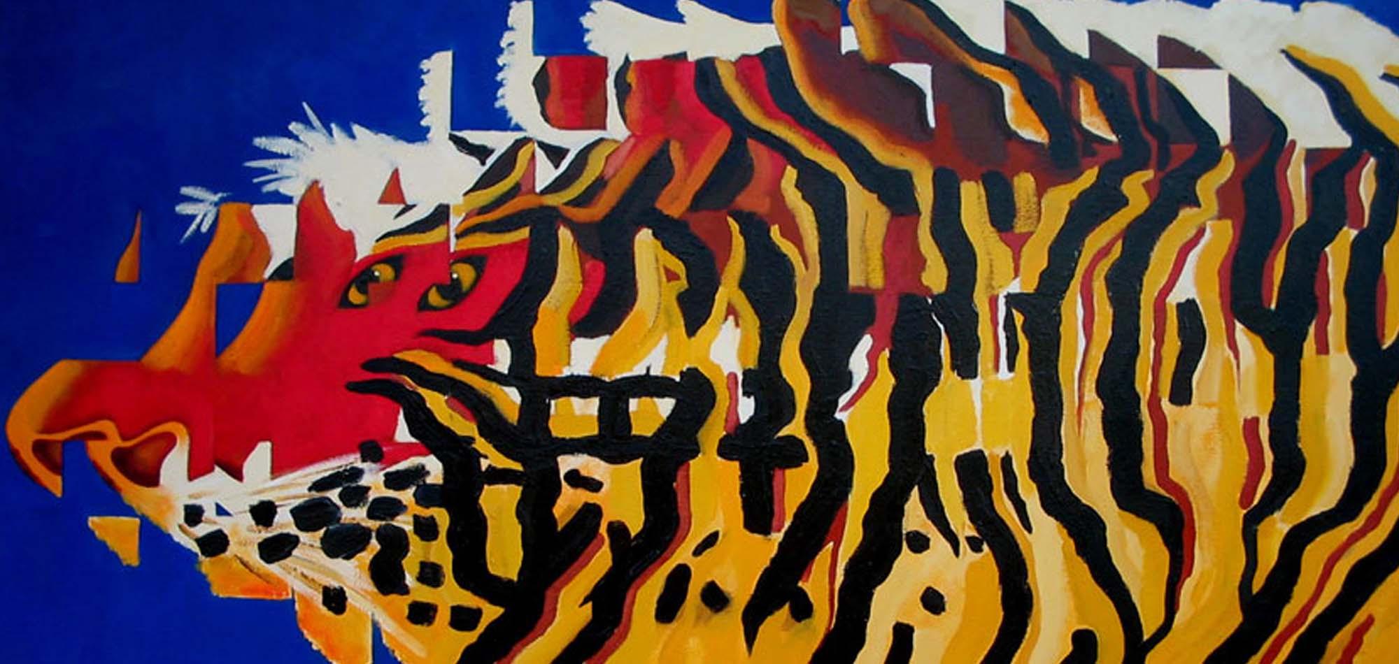 2009 Tigre 1 óleo 60x125cm