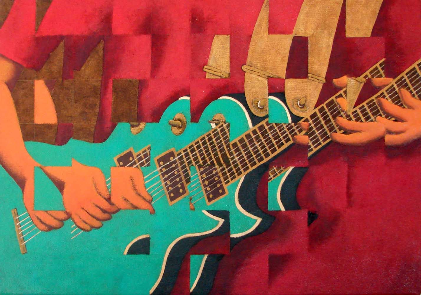 2015 Fragmentação Guitarra óleo s/lona 35x50cm
