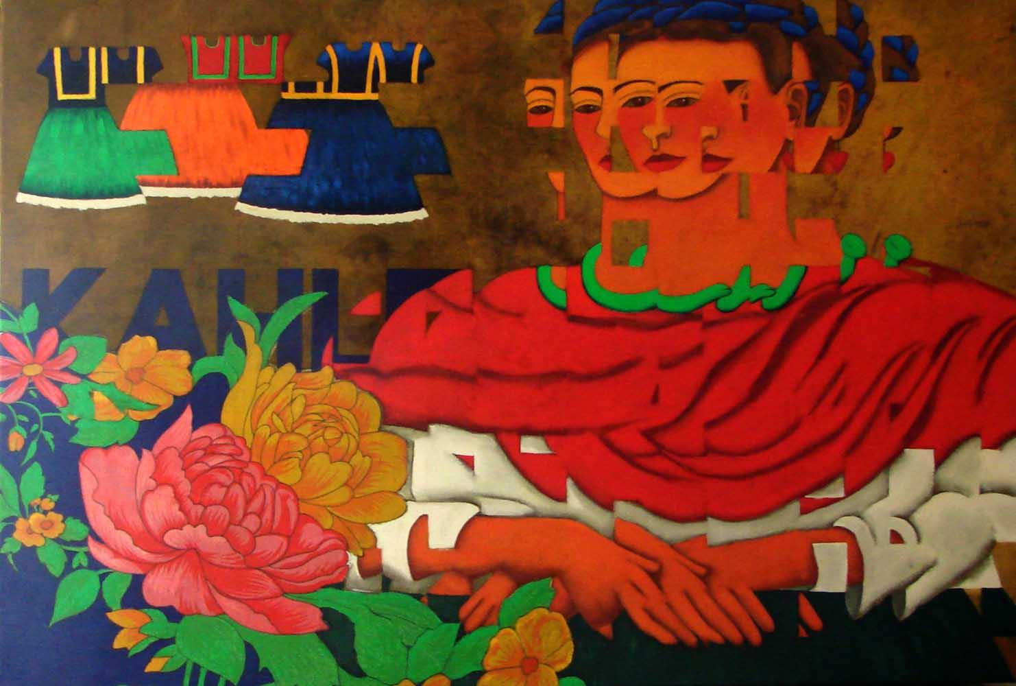 2015 Releitura Frida Kahlo 75x110cm