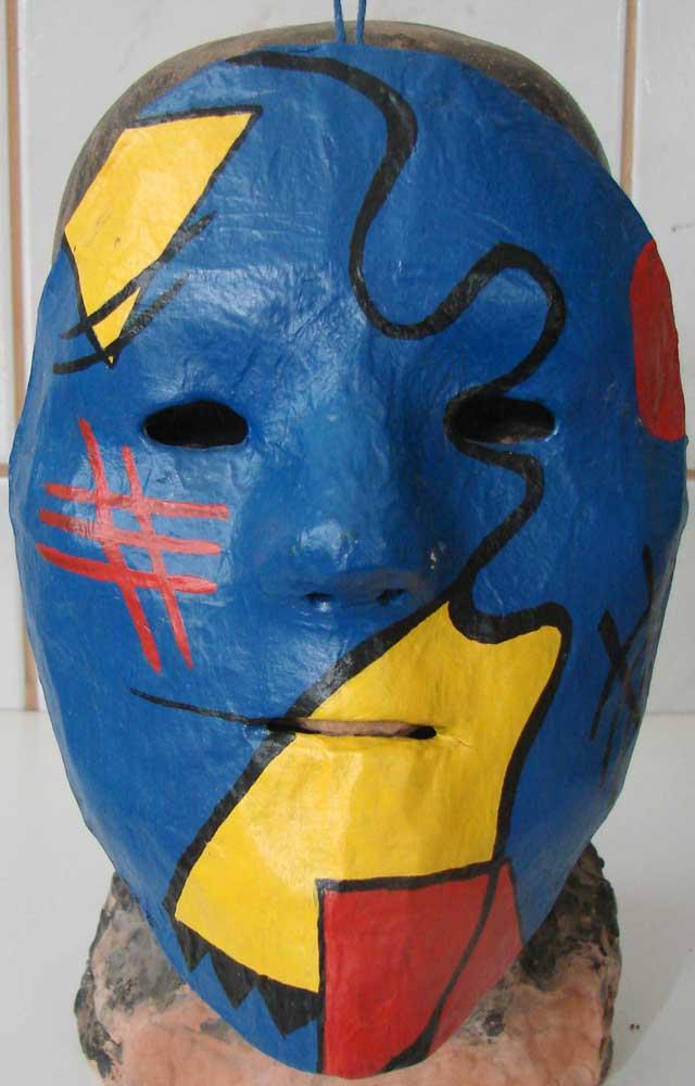 2015, Máscara Kandinsky Azul, técnica mista