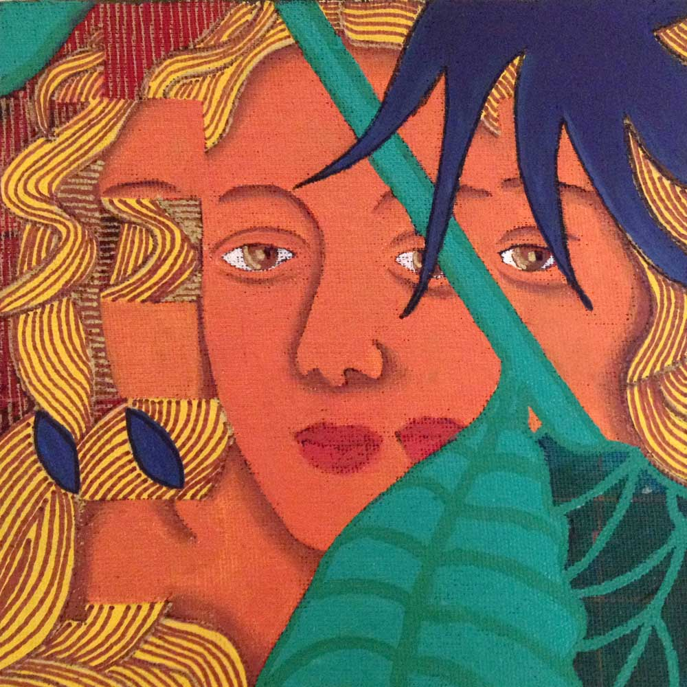 2016 Releitura Botticelli Vênus 14x14cm acrílica