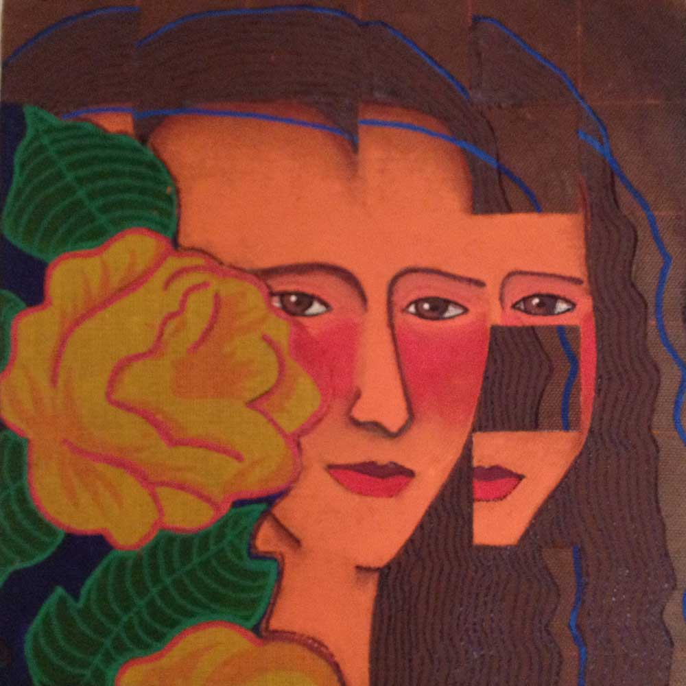 2016 Releitura Da Vinci Monalisa 19x19cm acrílica