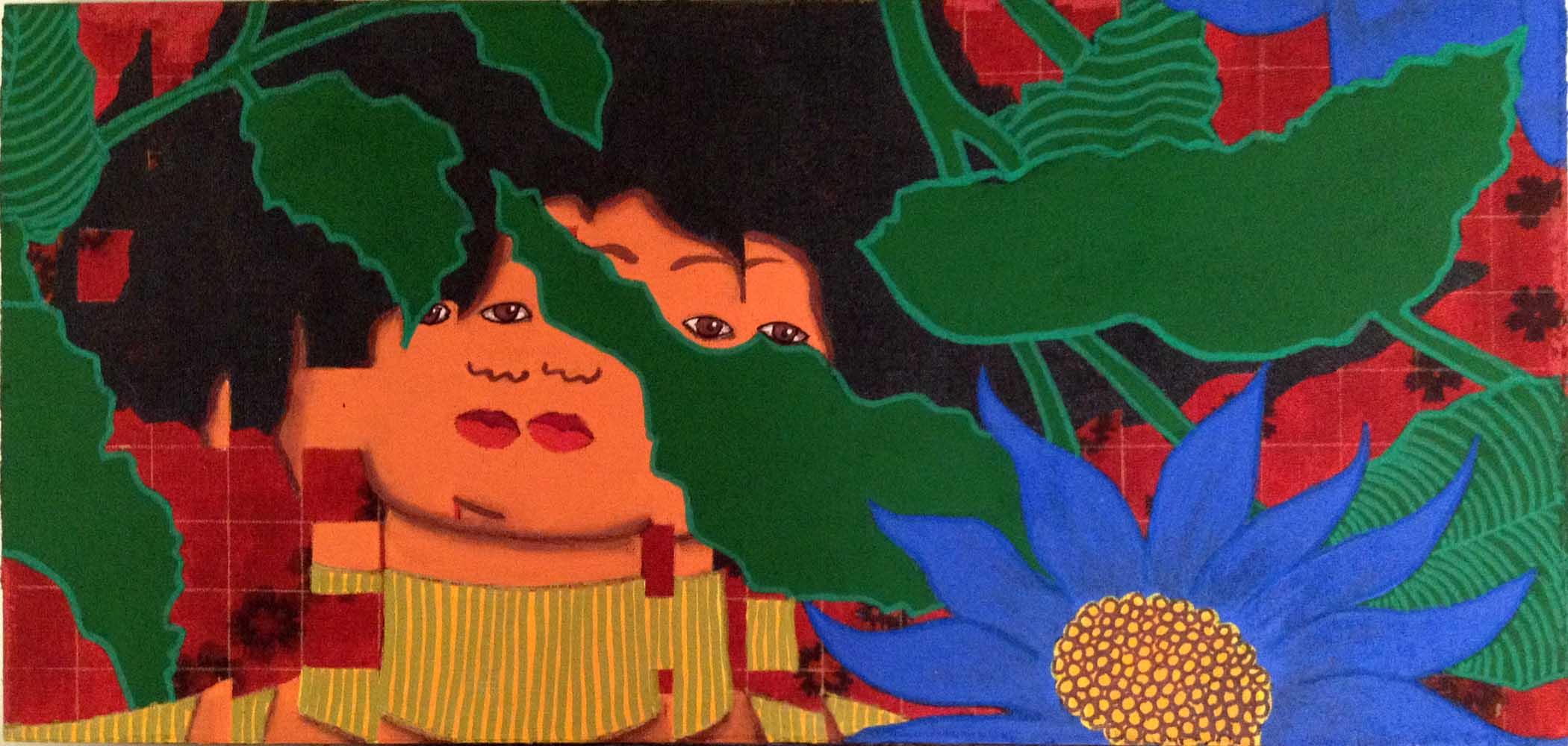 2016 Releitura Klimt Salomé 20x42cm acrílica