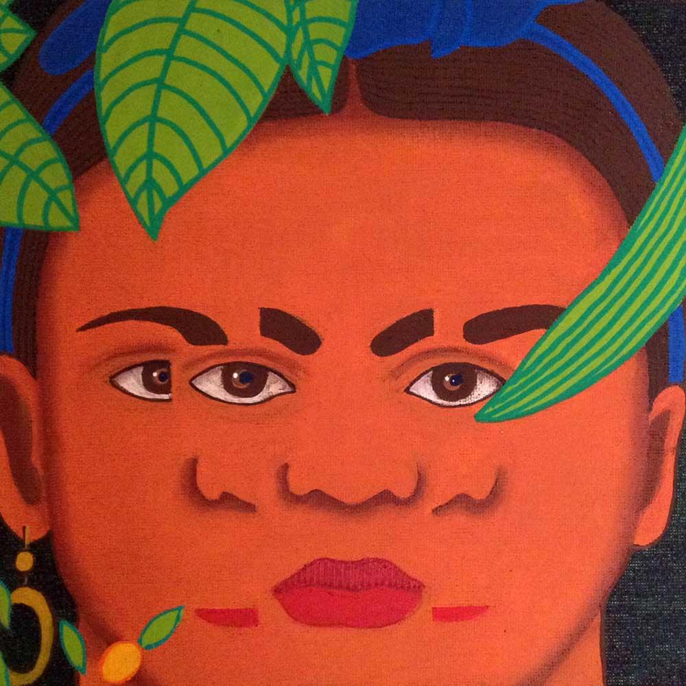 2016 Releitura Frida Kahlo4 20x20cm acrílica s/tela