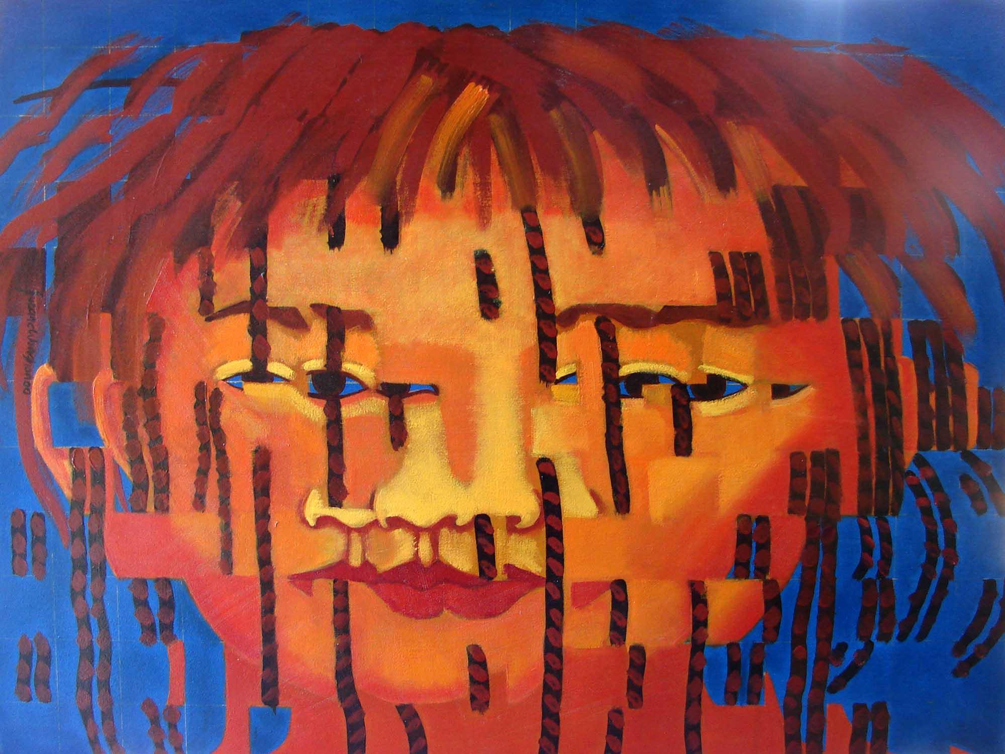2000, Fragmentação1, óleos/tela, 60x80cm