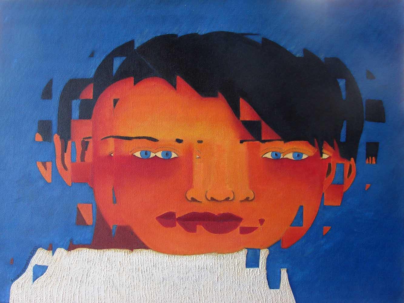 2000, Fragmentação12, óleo/tela, 60x80cm