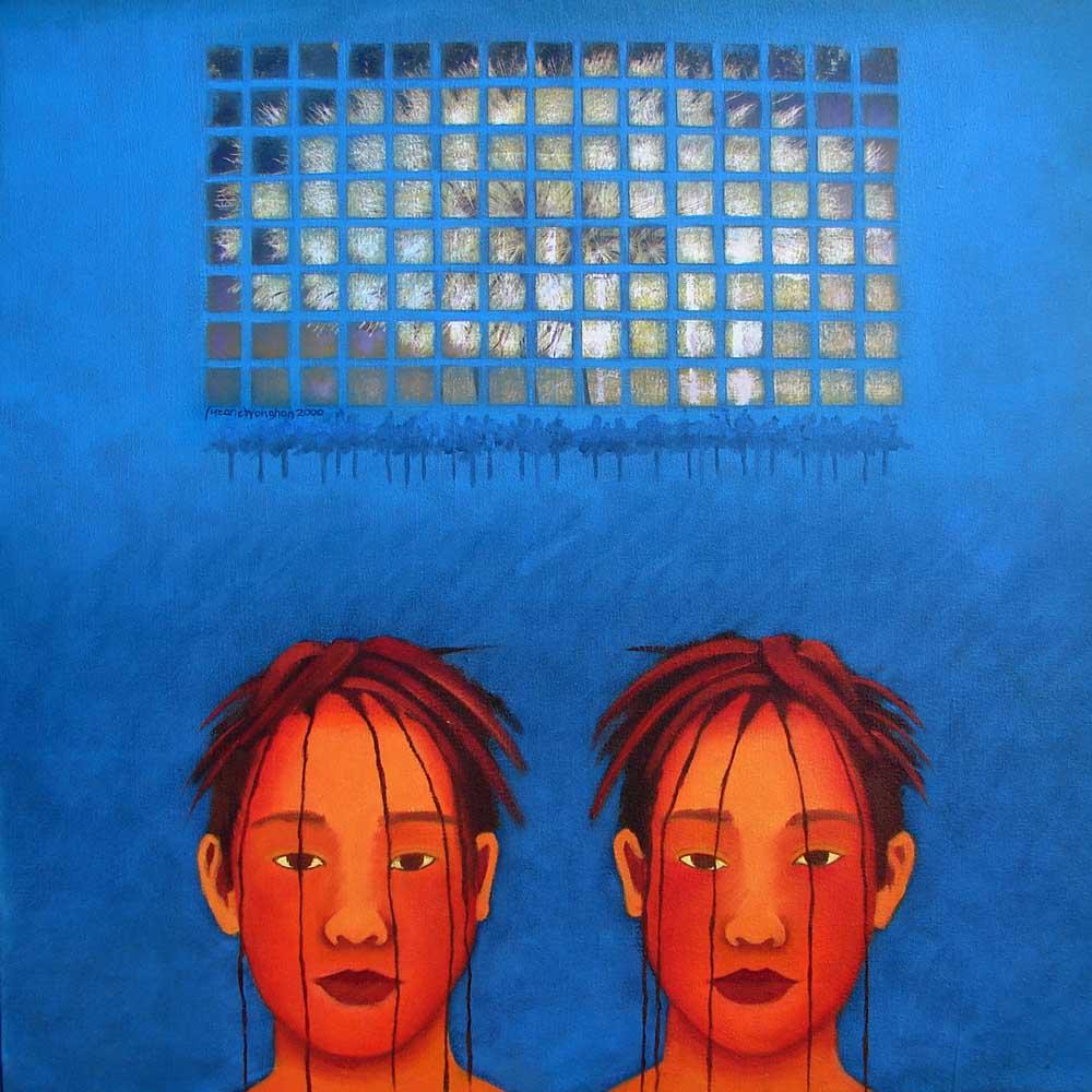2000, fragmentação10, óleo/tela, 60x60cm