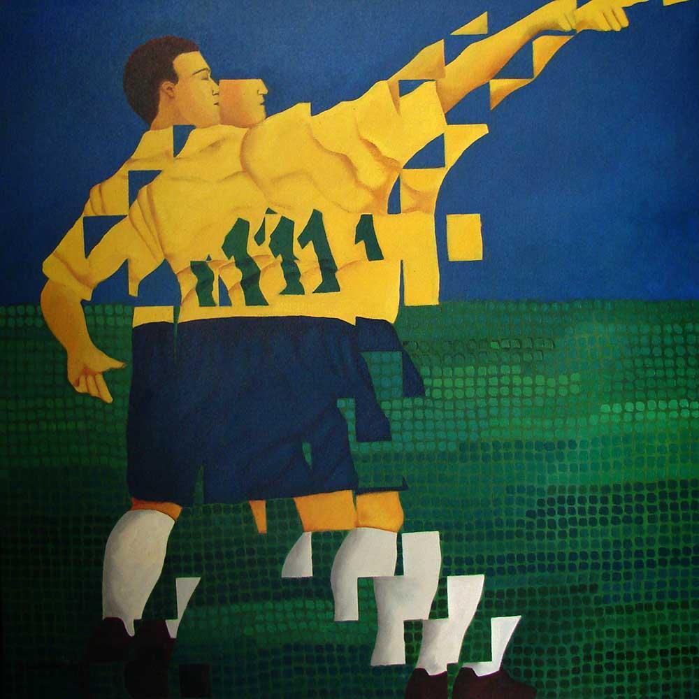 2001 Fragmentação 25 Futebol óleo/tela 80x80cm