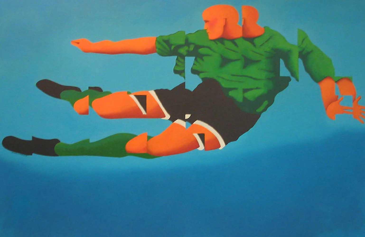 2002, fragmentação 16 Futebol óleo/tela 80x120cm