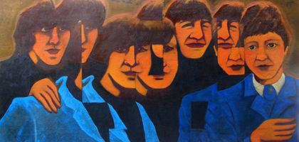 2015 Fragmentação The Beatles óleolona 57x115cm